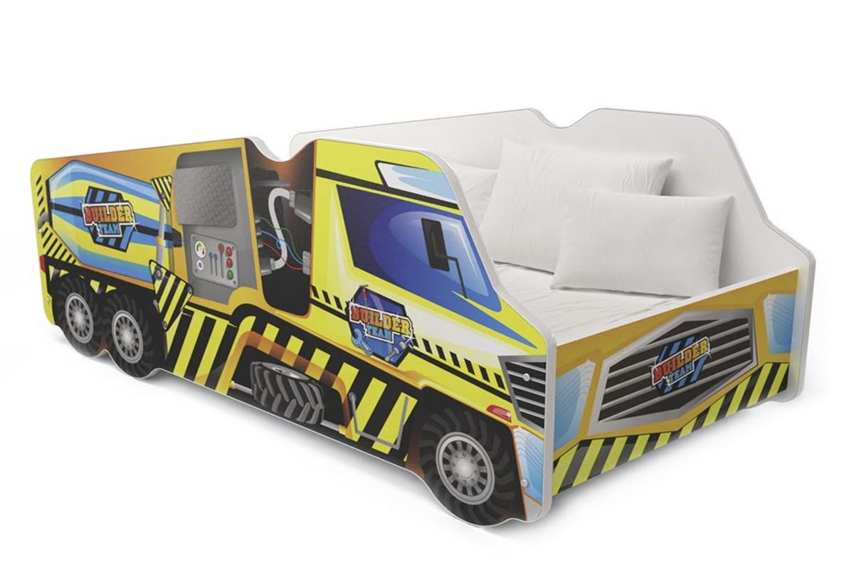 Dětská postel AUTO LORRY + matrace + rošt ZDARMA, 70x140, VZOR 03