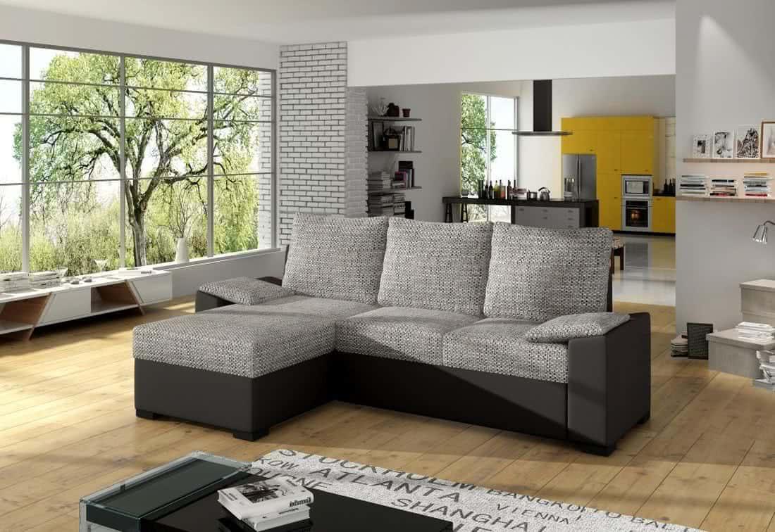 Rohová sedačka TOMASSO, 245x83x160, berlin01/soft011 black, levá