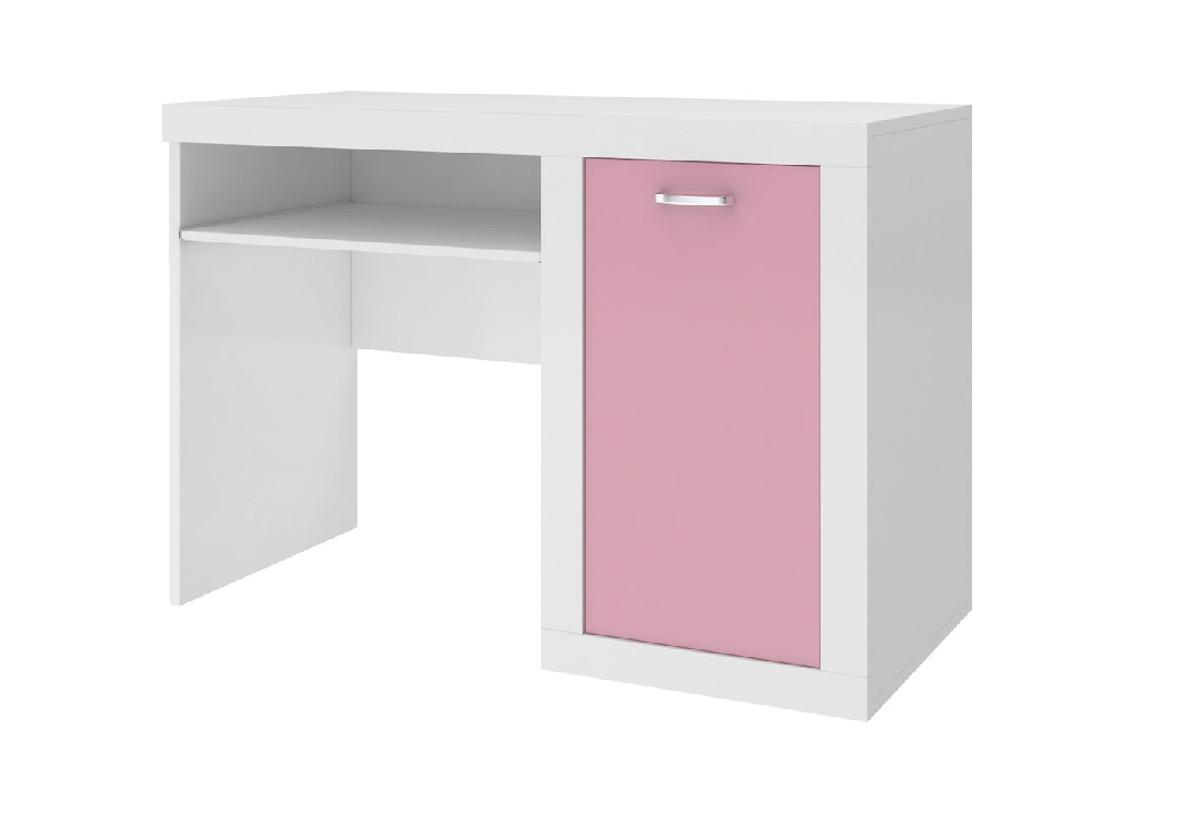 Expedo.cz Dětský psací stůl JAKUB, color, bílý/růžový + doprava ZDARMA