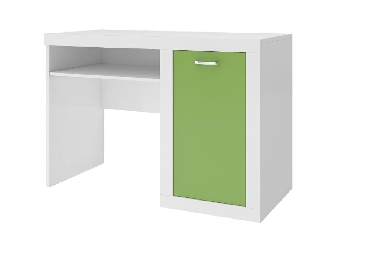 Expedo.cz Dětský psací stůl JAKUB, color, bílý/zelený + doprava ZDARMA