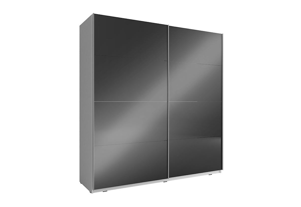59b8f8a42 Šatní skříň MIKA 7, 150x214x63, bílá/černý lesk