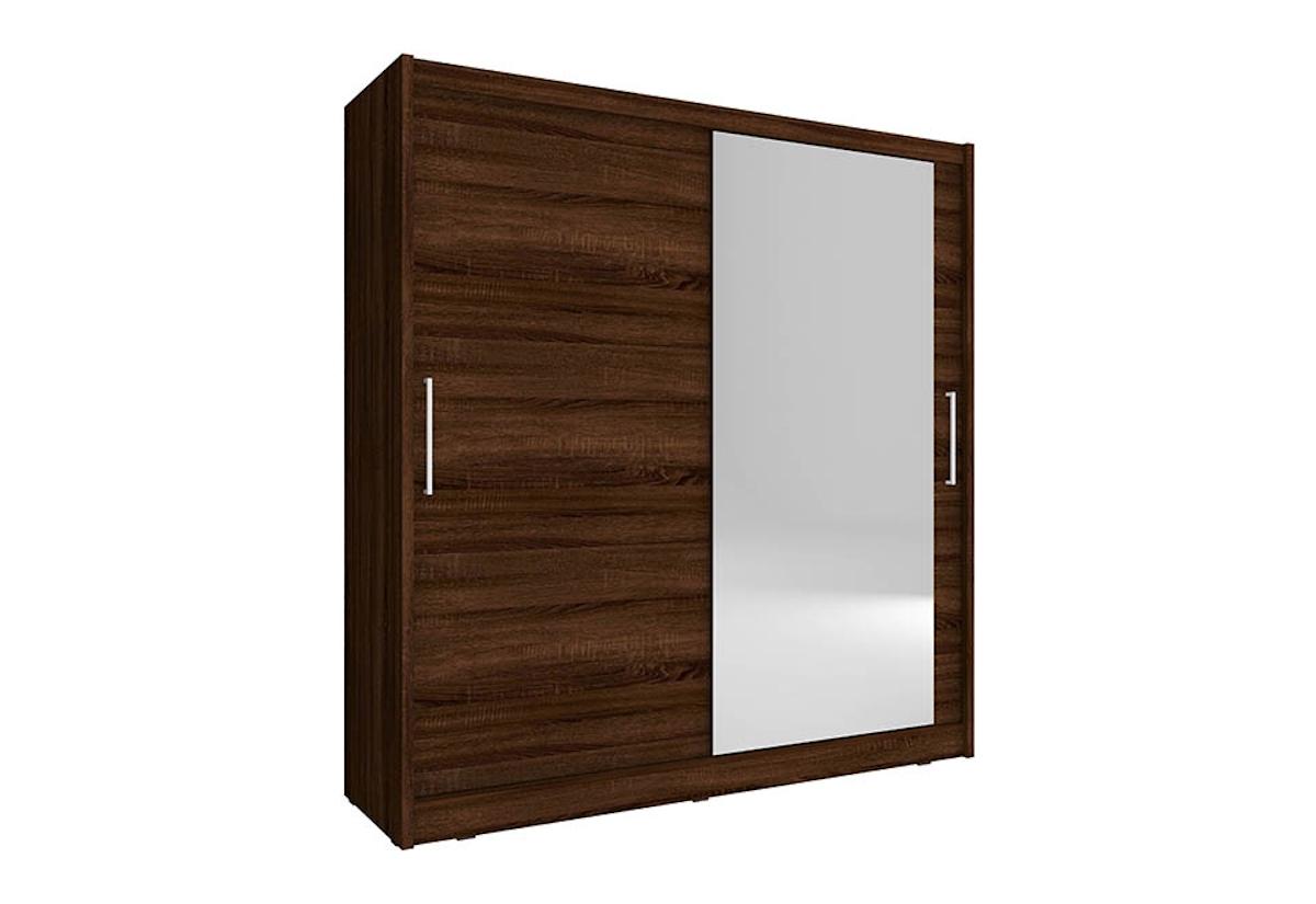 Šatní skříň NANA 1, 180/200/62, sonoma čokoládová