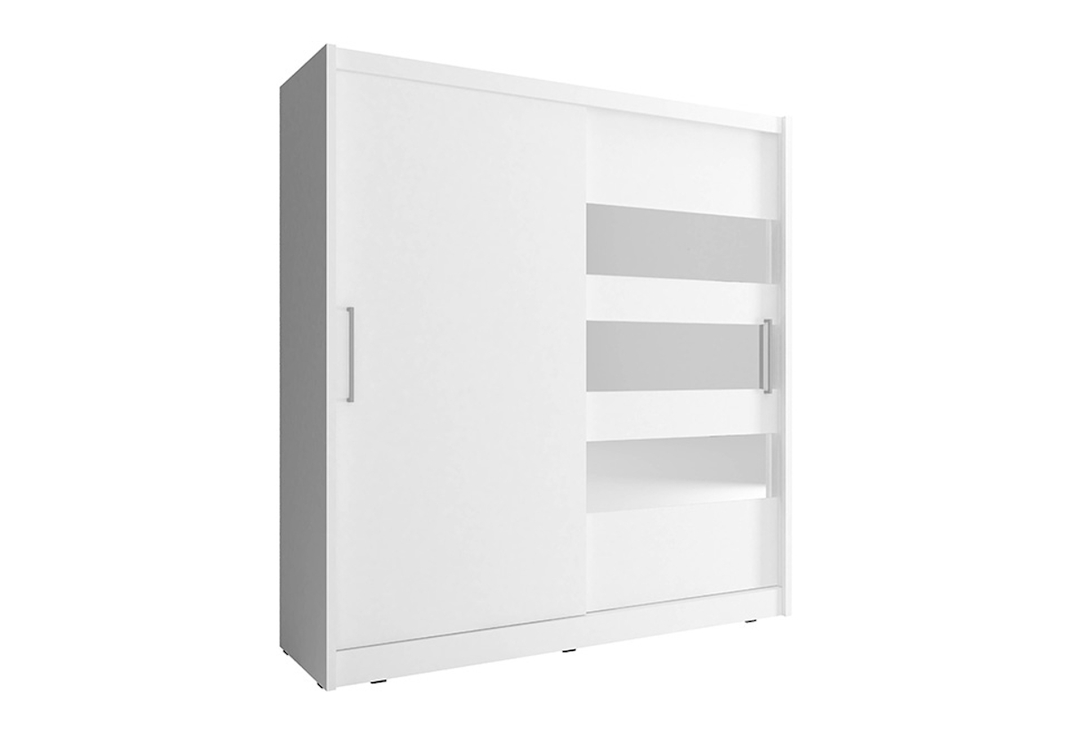 Šatní skříň NANA 3, 200/214/62, bílá barva