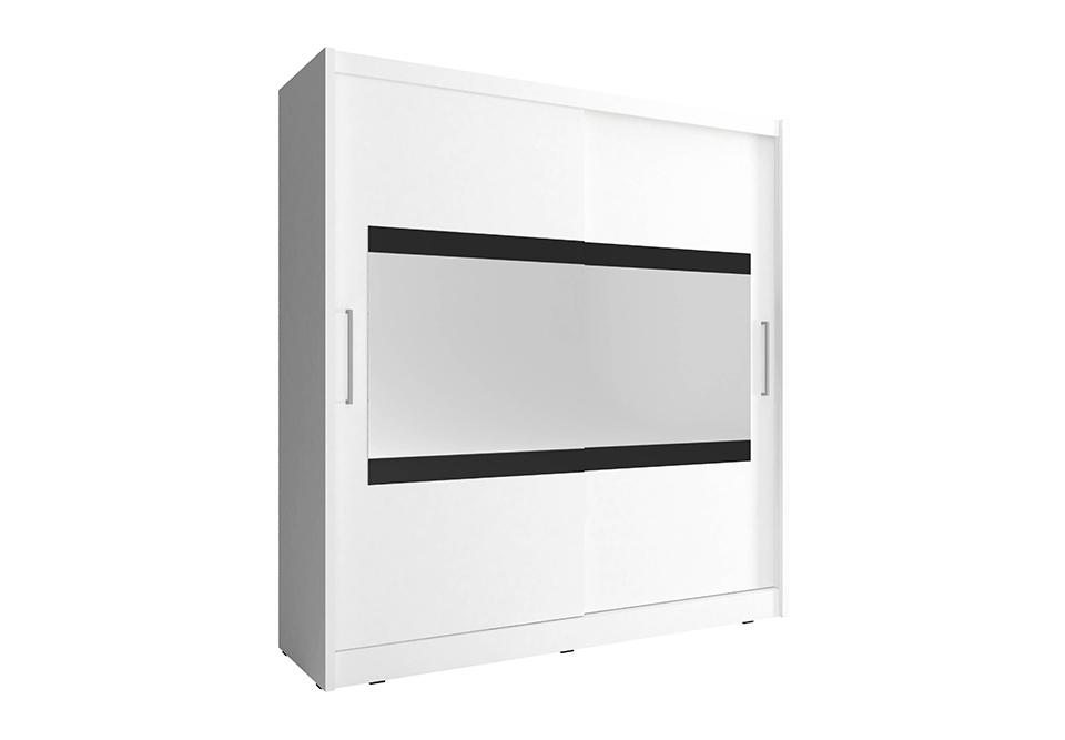 Šatní skříň NANA 4, 180/200/62, bílá barva