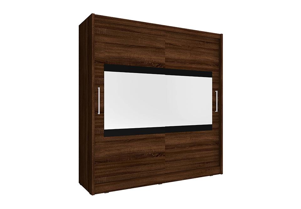 Šatní skříň NANA 4, 200/214/62, sonoma čokoládová