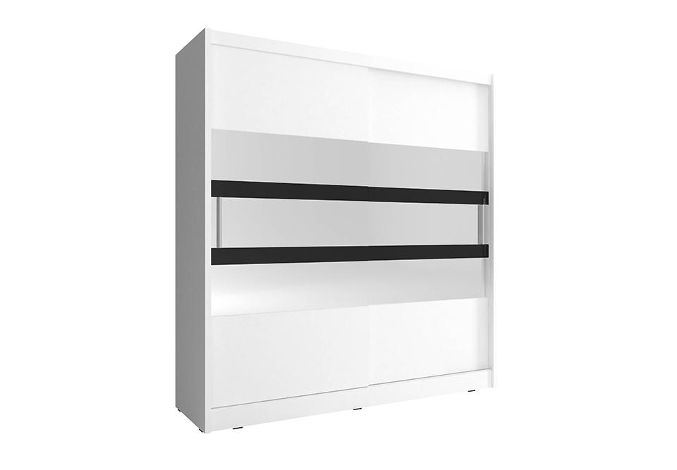 Šatní skříň NANA 5, 200/214/62, bílá barva