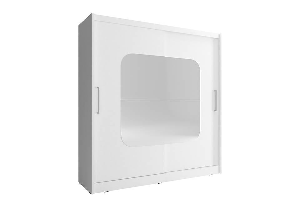 Šatní skříň NANA 8, 180/200/62, bílá barva