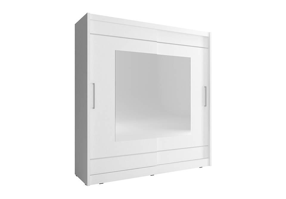 Šatní skříň NANA 9, 200/214/62, bílá barva