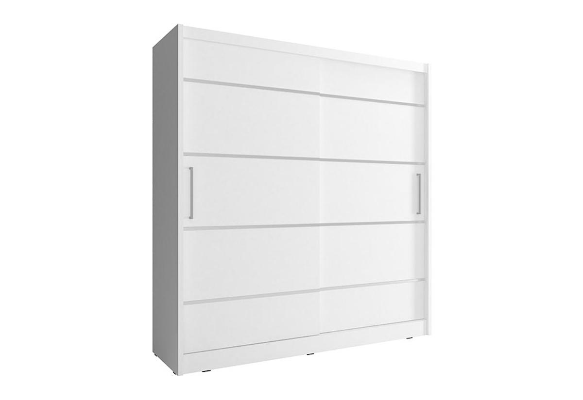 Šatní skříň NANA ALU, 180/200/62, bílá barva
