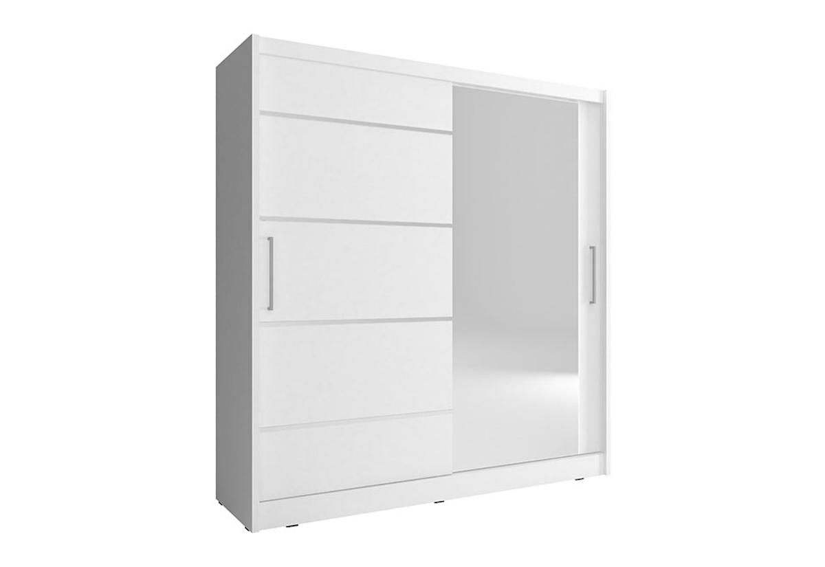 Šatní skříň NANA 1 ALU, 180/200/62, bílá barva