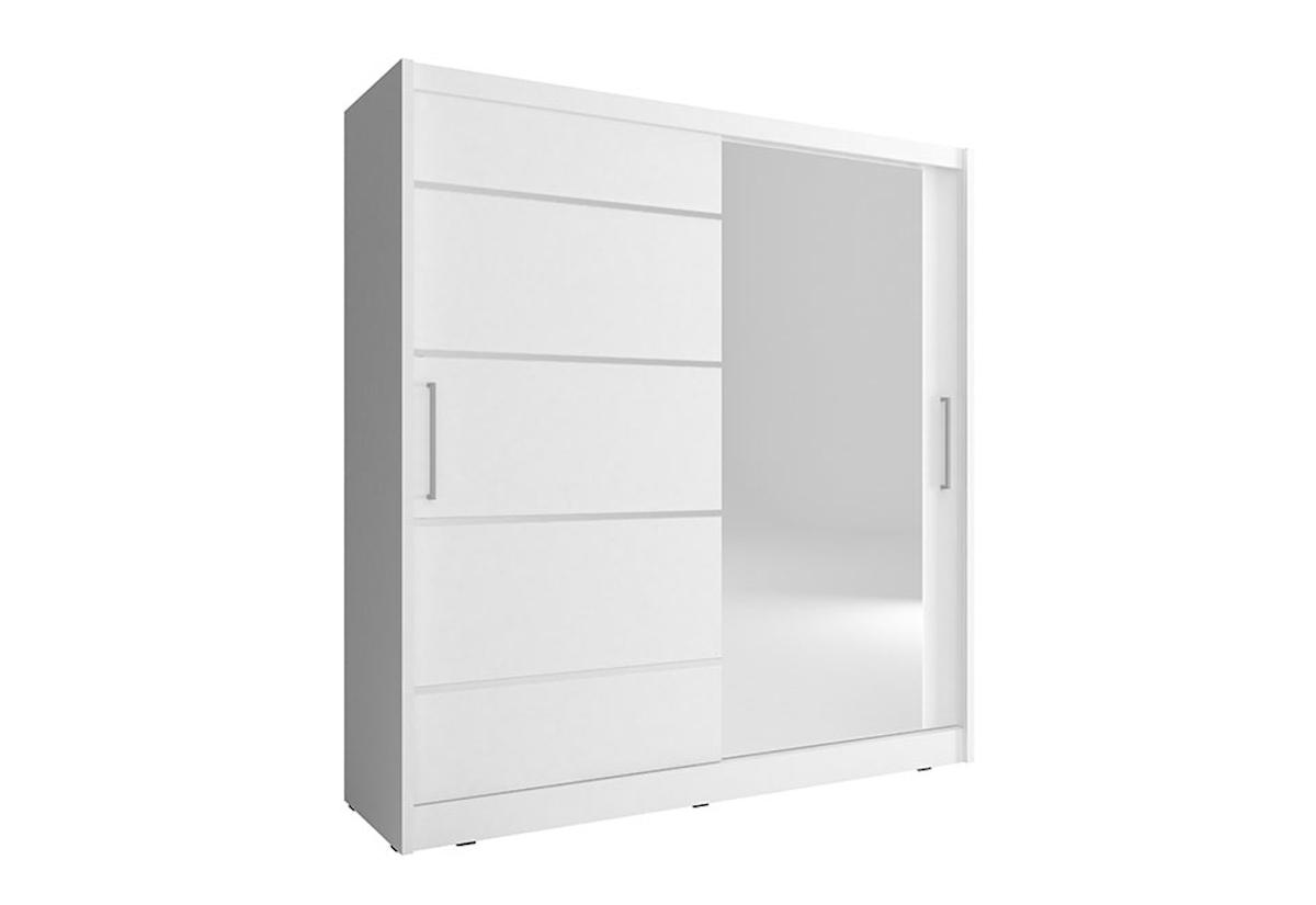 Šatní skříň NANA 1 ALU, 200/214/62, bílá barva