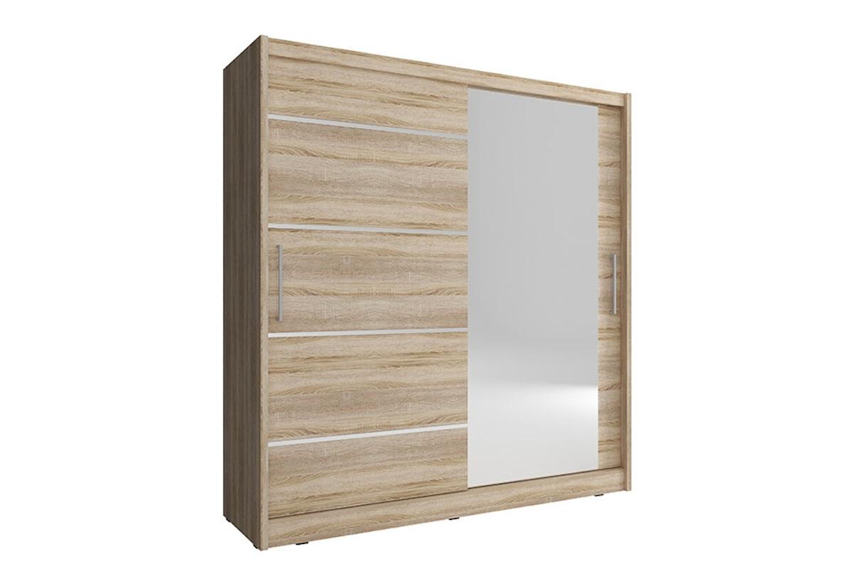 Šatní skříň NANA 1 ALU, 200/214/62, dub sonoma