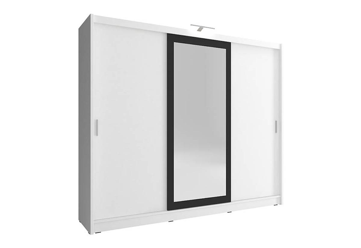 Šatní skříň WHITNEY 2 250, + LED, 62x214x250, bílá
