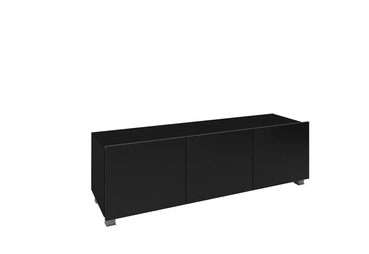 TV stolek BRINICA 150, 150x37x43, černá/černý lesk
