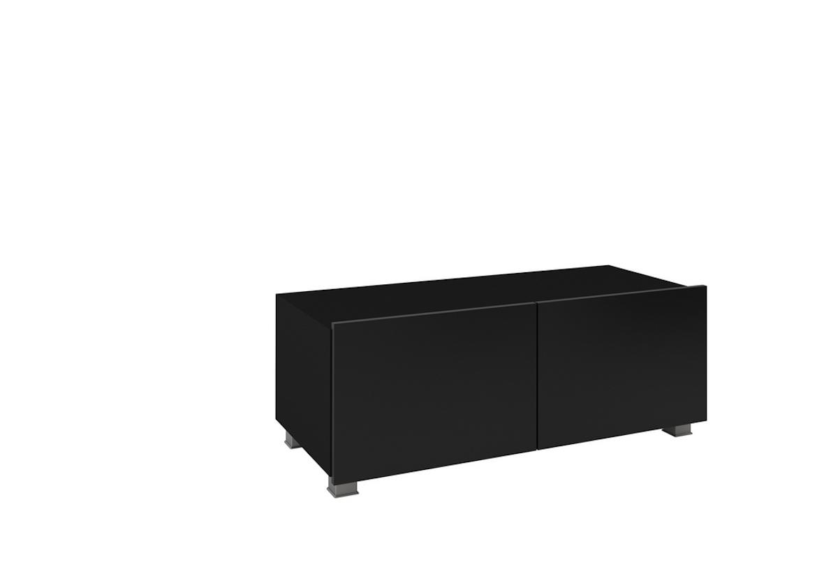 TV stolek BRINICA 100, 100x37x43, černá/černý lesk