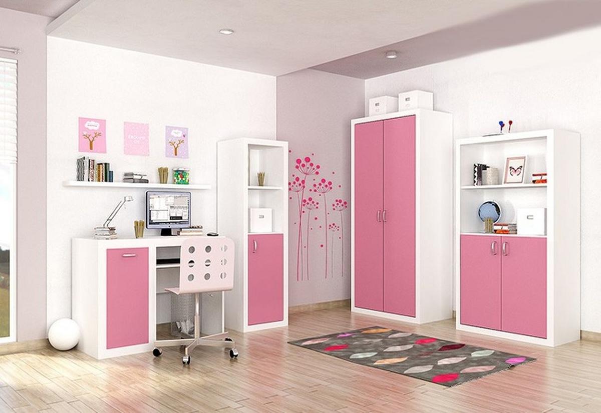 Dětský pokojíček JAKUB, color, Sestava 2, růžová