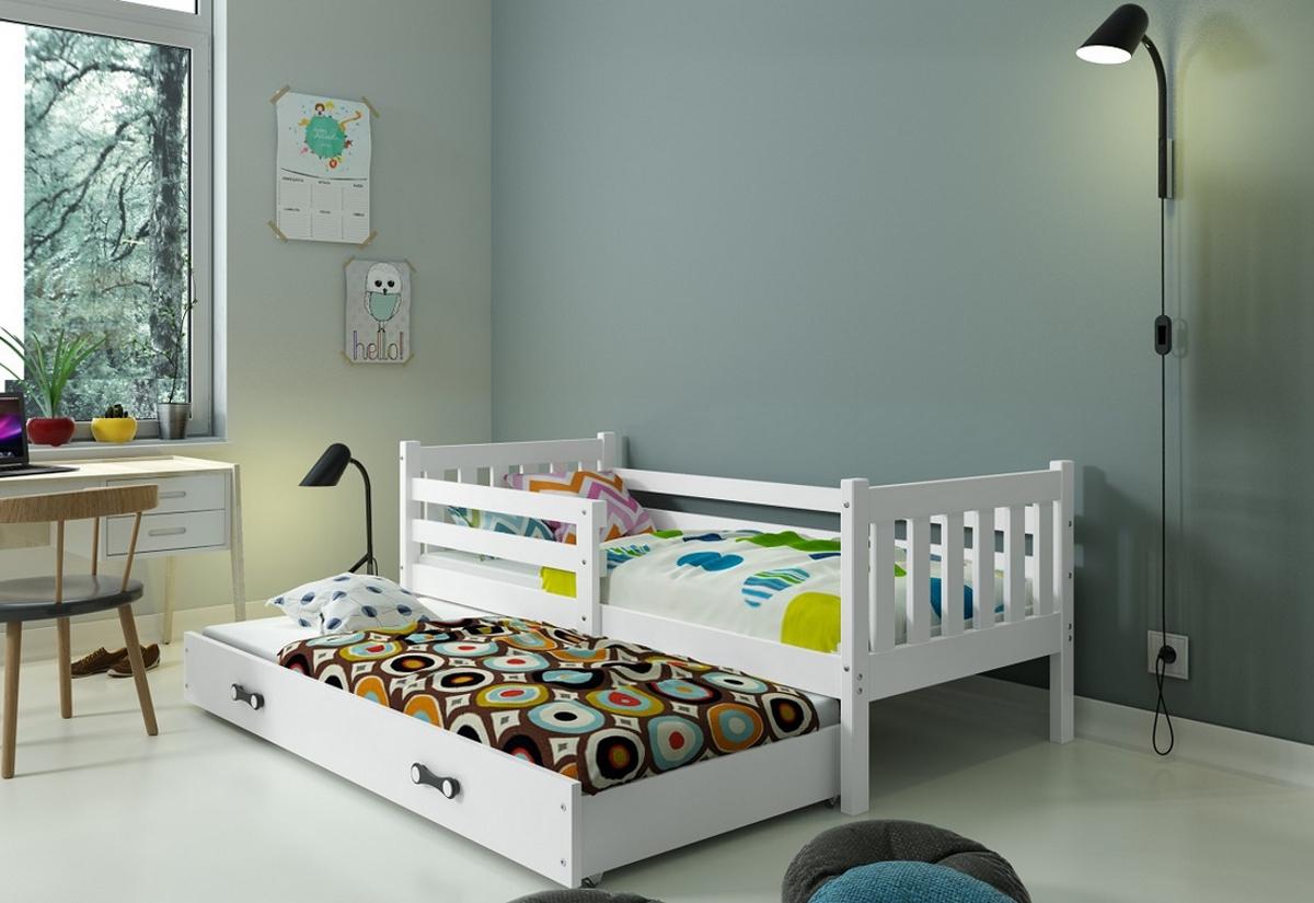 Dětská postel RINOCO P2 + matrace + rošt ZDARMA, 190x80, bílý