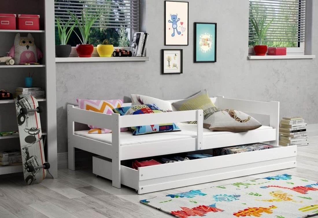 Dětská postel GOGO + matrace + rošt ZDARMA, 160x80, bílá/bílá