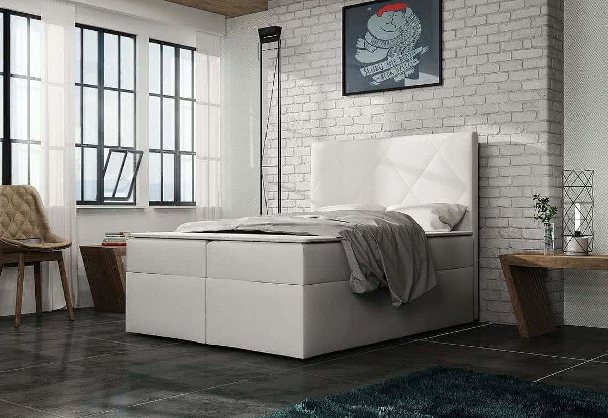 Čalouněná postel ELSA + toper, Olaf4700, 140x200