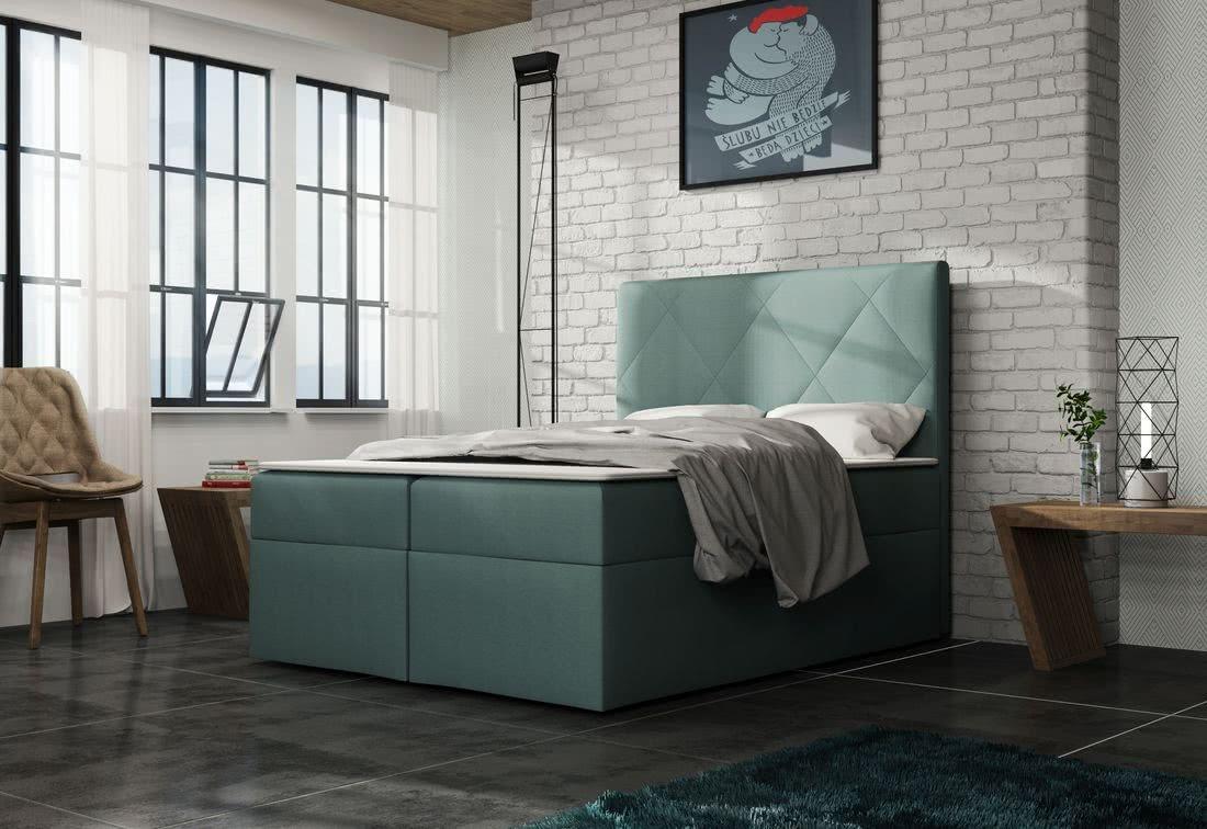 Čalouněná postel ELSA + toper, Olaf4705, 140x200