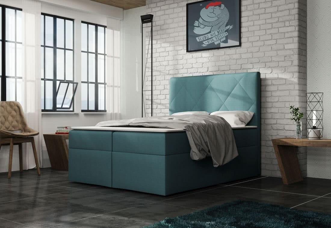 Čalouněná postel ELSA + toper, Olaf4706, 140x200