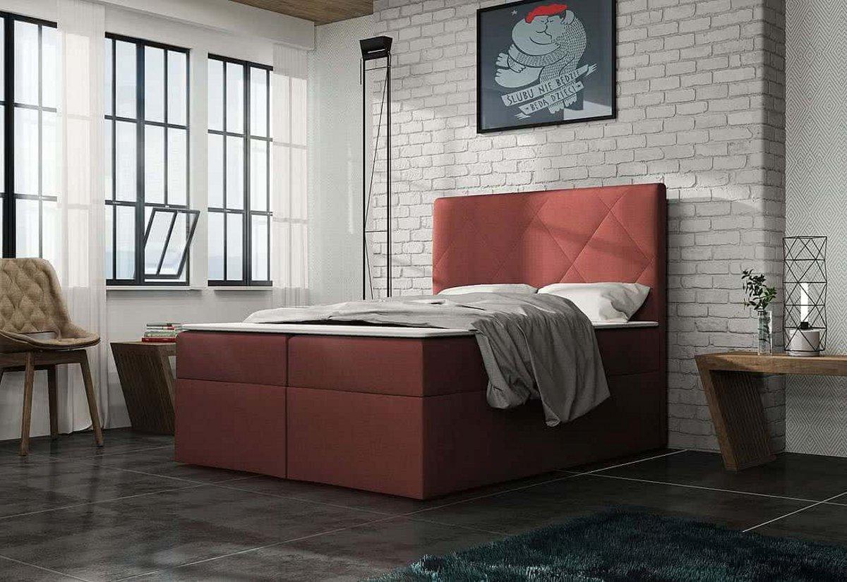 Čalouněná postel ELSA + toper, Olaf4707, 140x200