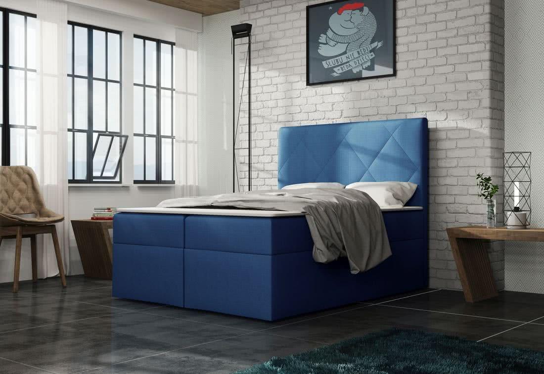Čalouněná postel ELSA + toper, Olaf4708, 140x200