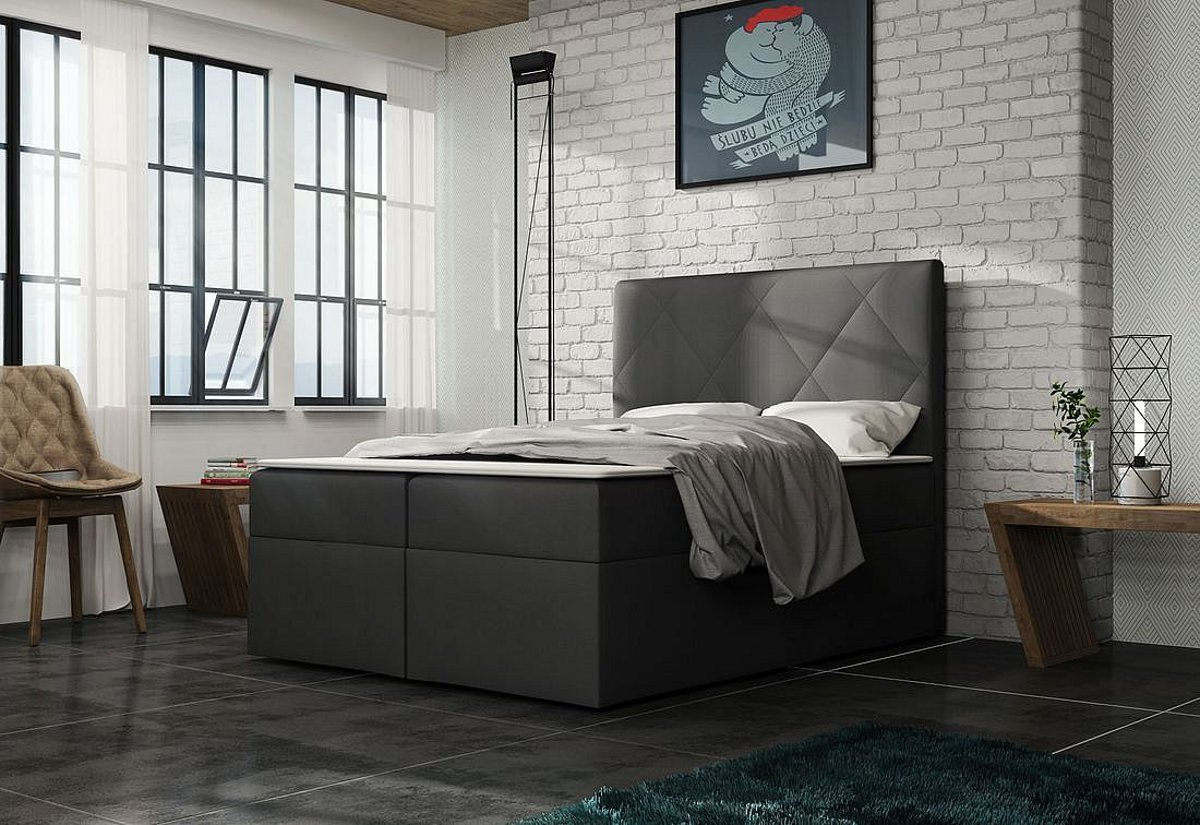 Čalouněná postel ELSA + toper, Olaf4713, 140x200
