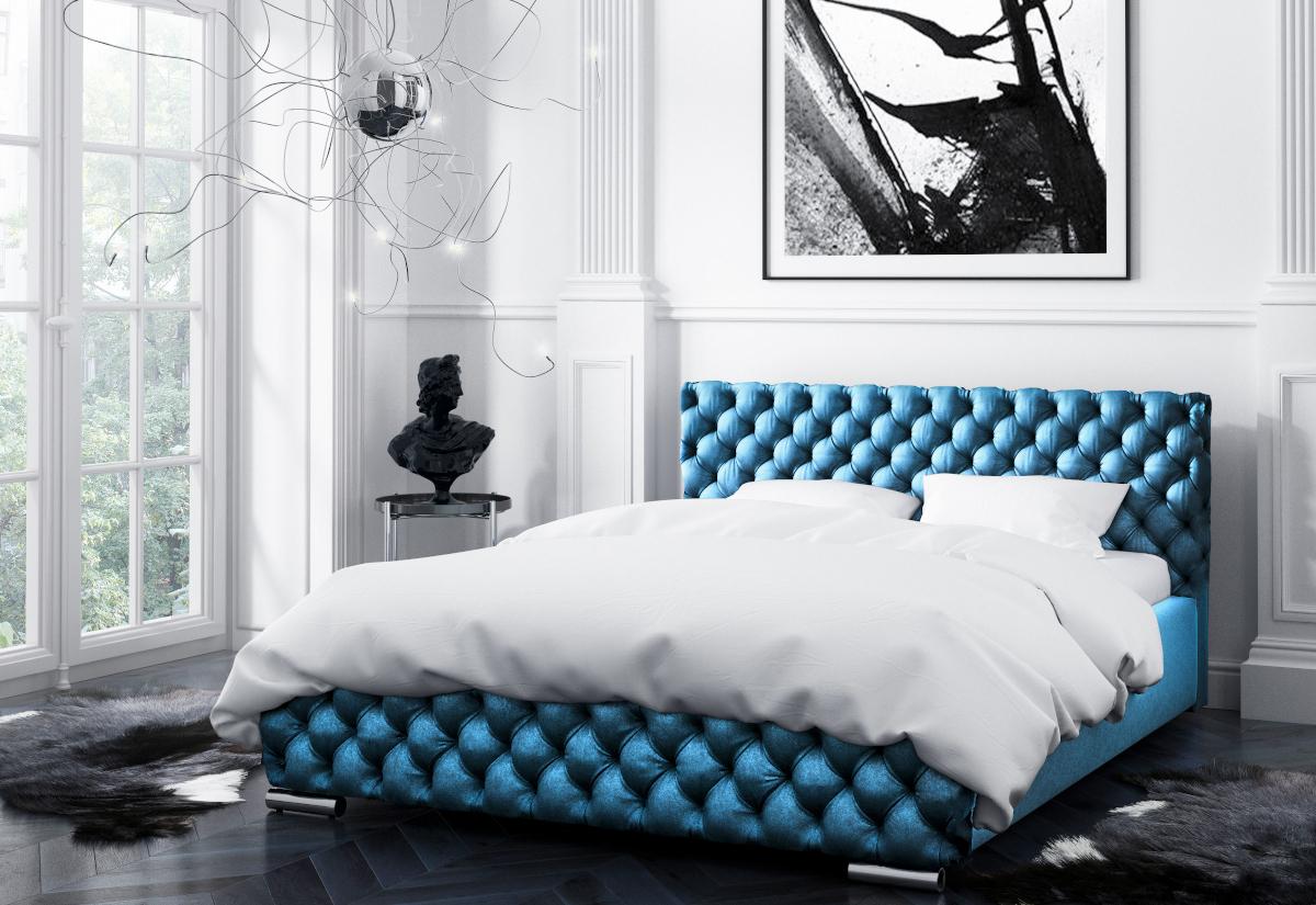 Čalouněná postel RAFO s matrací, 120x200