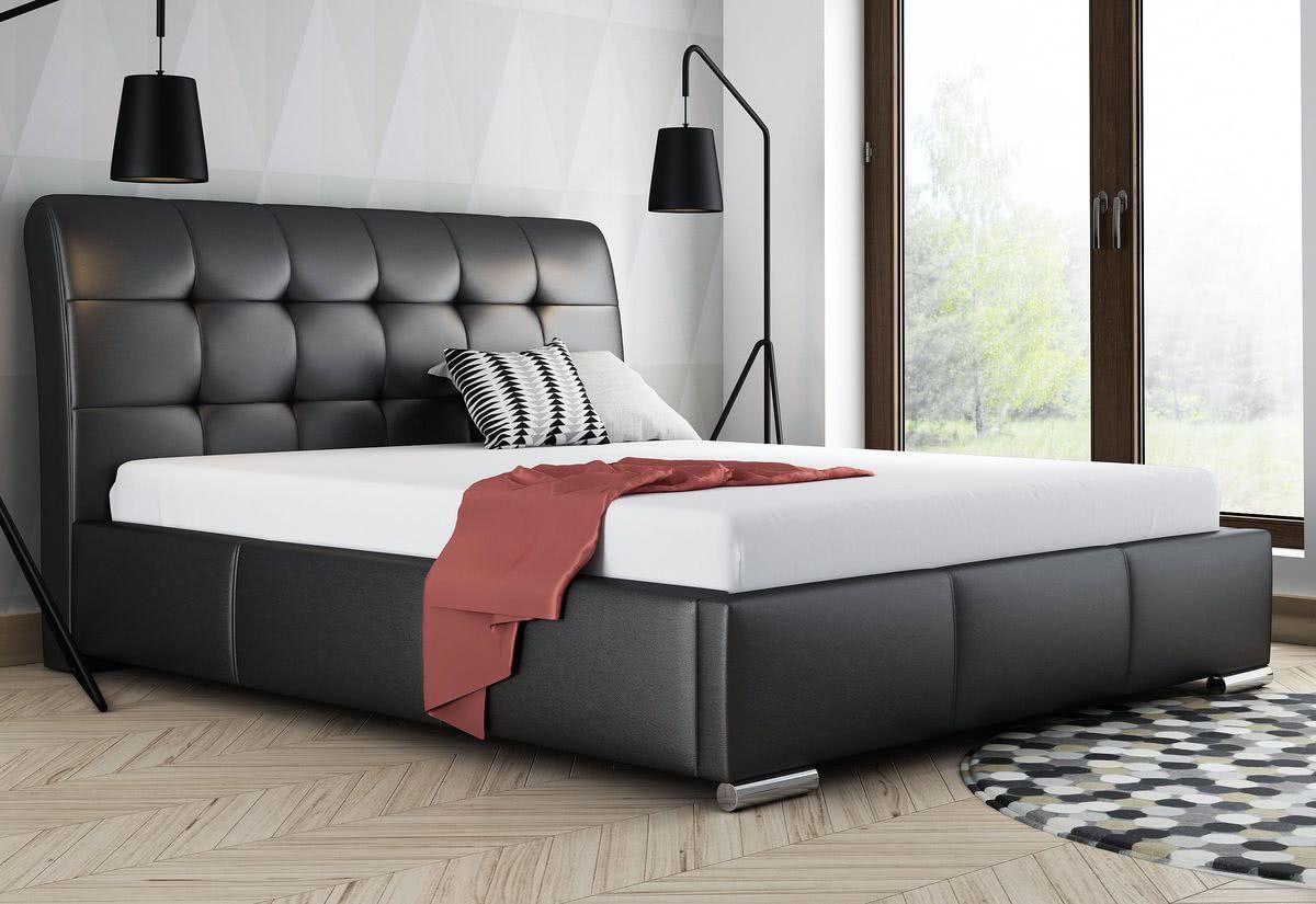 Čalouněná postel BERAM s matrací, 120x200