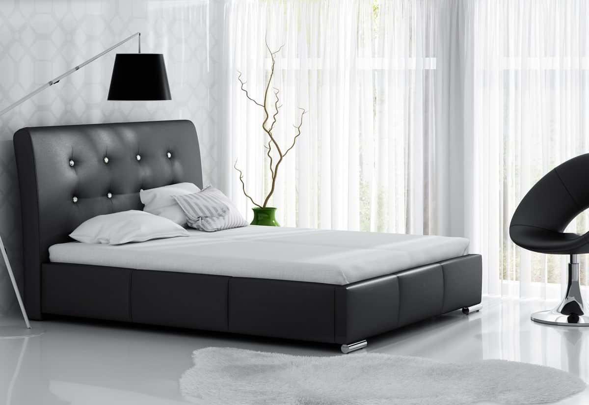 Čalouněná postel NORA s matrací, 120x200