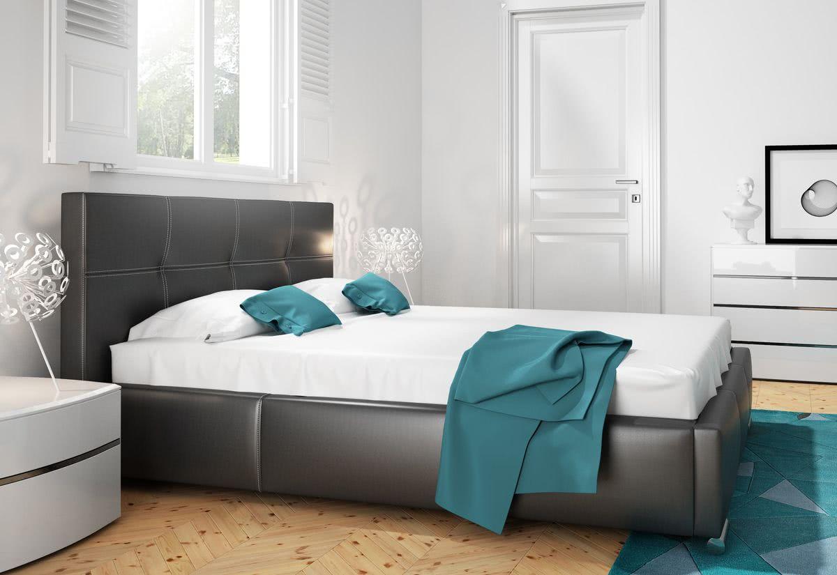 Čalouněná postel BUKY s matrací, 120x200