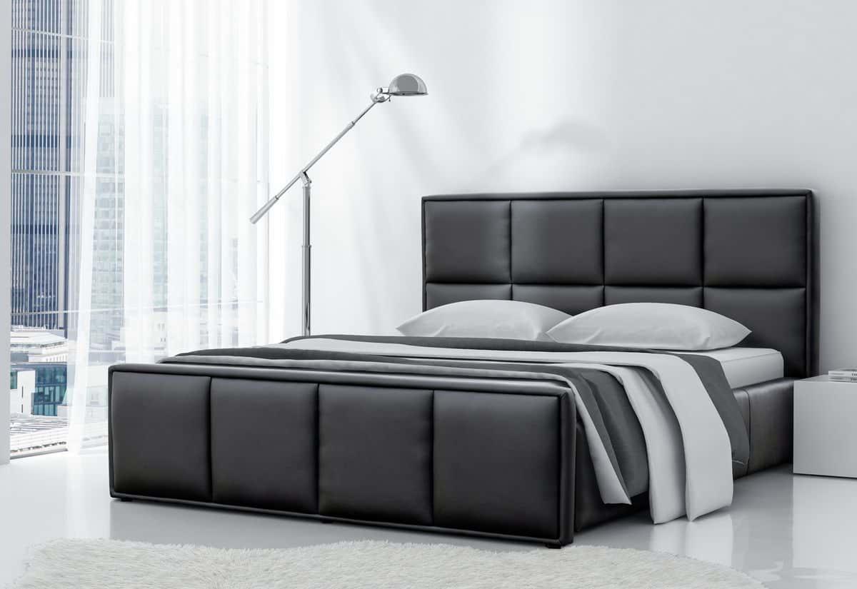 Čalouněná postel BORIS s matrací, 120x200