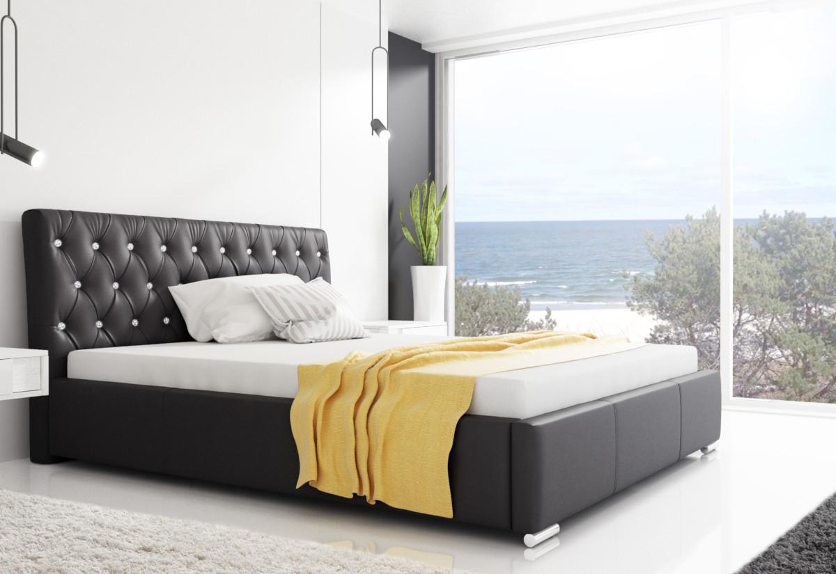Čalouněná postel NARVE s matrací, 120x200