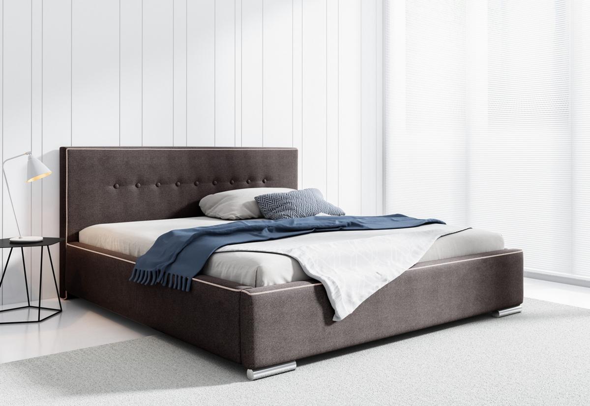 Čalouněná postel AMUND s matrací, 120x200