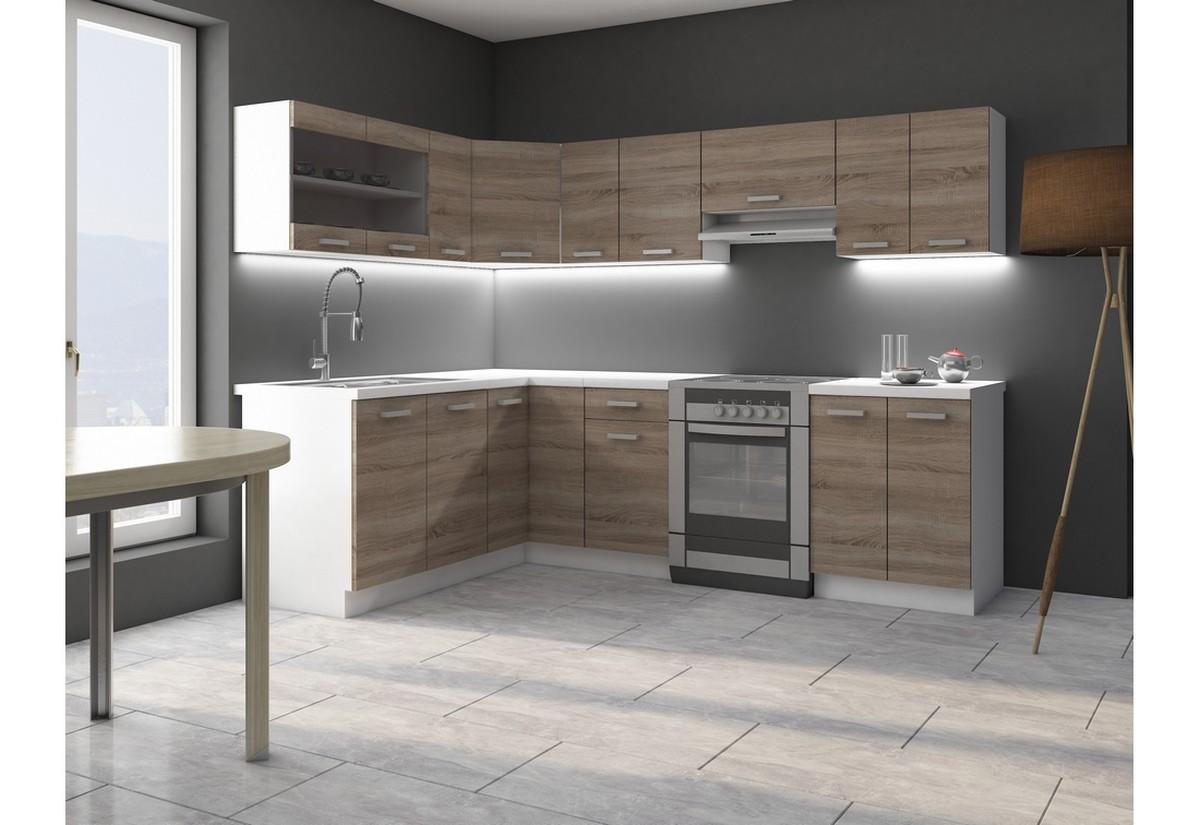 Kuchyňská sestava rohová SOPHIA 170x250 + kuchyňský dřez