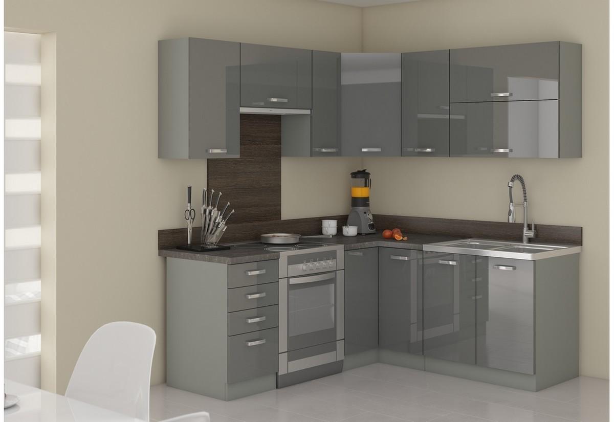 Kuchyňská sestava rohová GRISS 190x170 + kuchyňský dřez