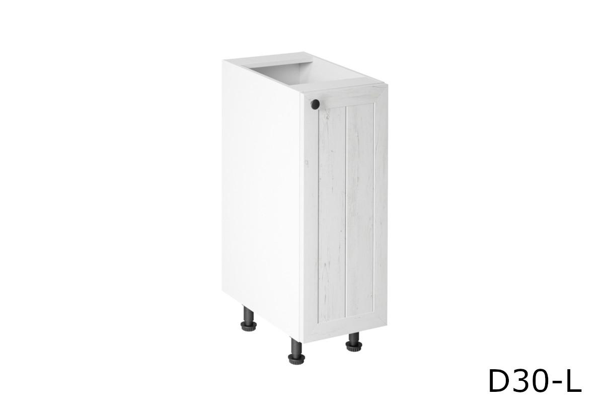 Kuchyňská skříňka dolní LORIENT D30, 30x82x47, bilá/sosna Andersen, levá