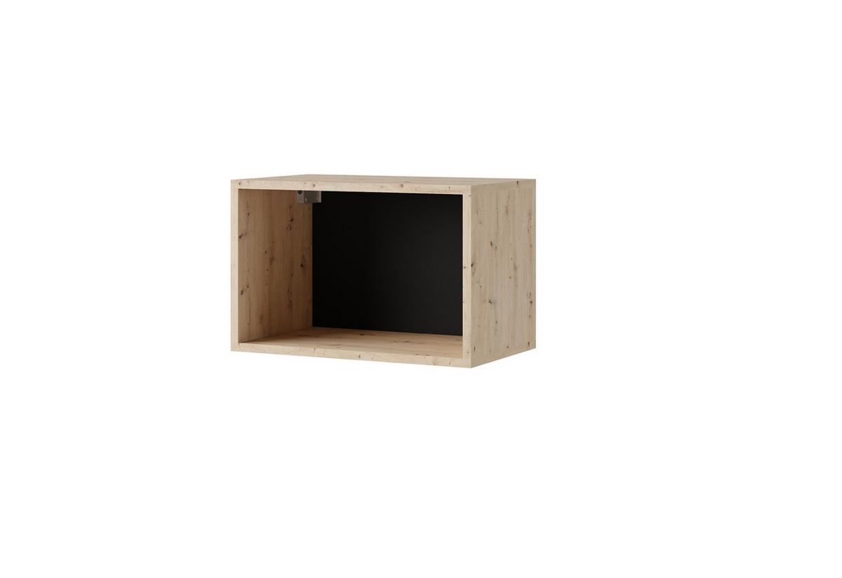 Závěsná police BRINICA P50, 50x32,5x30, dub artisan/černá