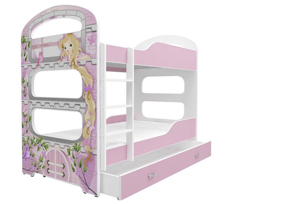 Dětská patrová postel PATRIK 2 + matrace + rošt ZDARMA