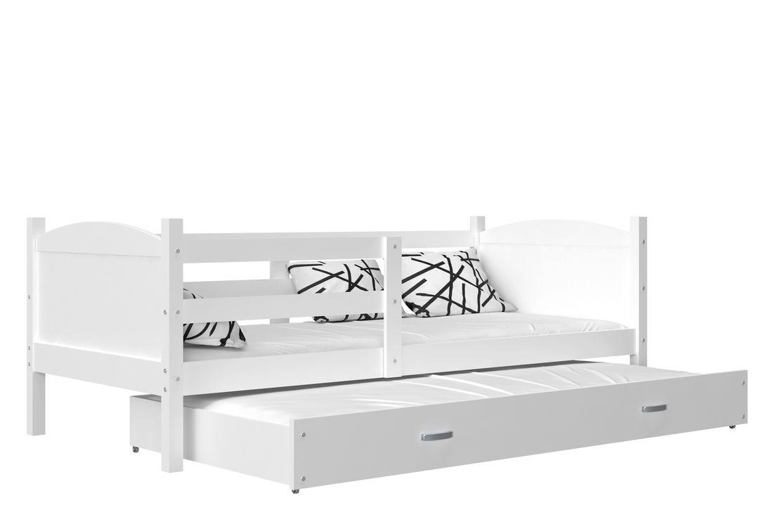 Dětská rozkládací postel MATES P2 color, 184x80, bílá/bílá