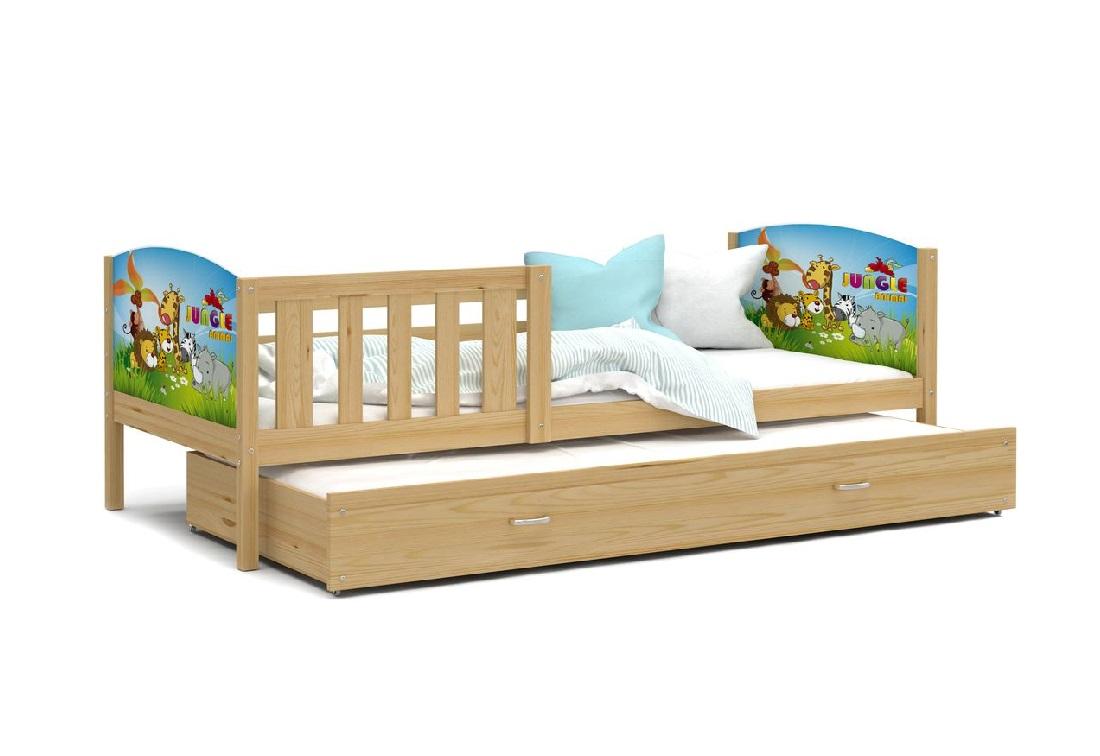Dětská postel DOBBY P2 s potiskem + matrace + rošt ZDARMA