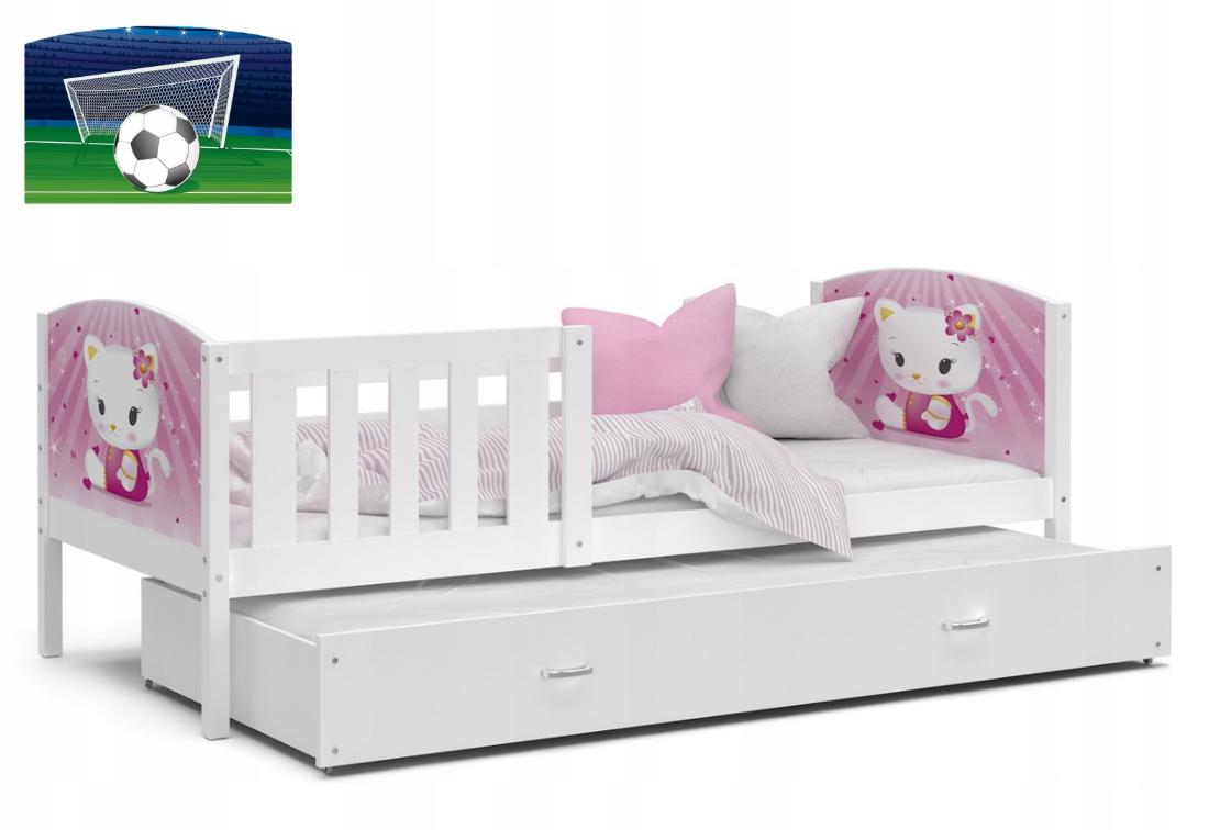 Dětská postel DOBBY P2 color s potiskem + matrace + rošt ZDARMA