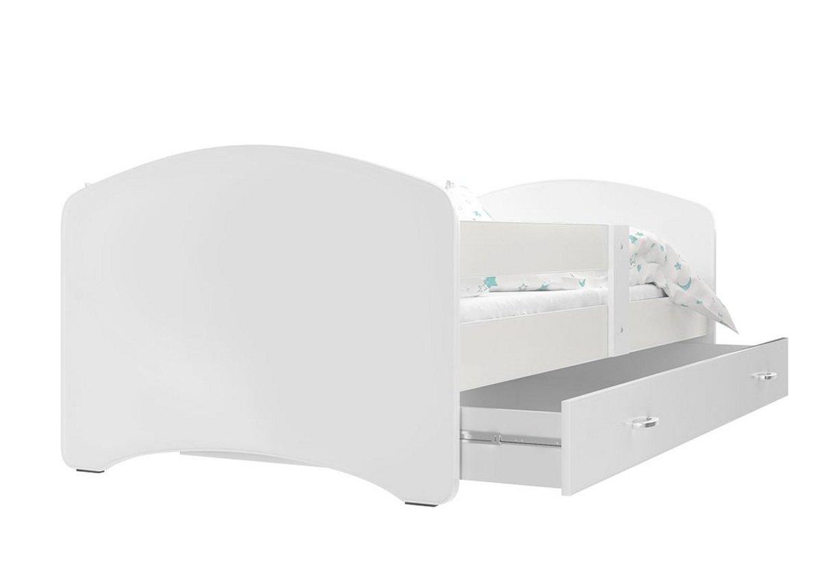 Dětská postel s potiskem LUCIE + matrace + rošt ZDARMA, 140x80, bílý bez vzoru