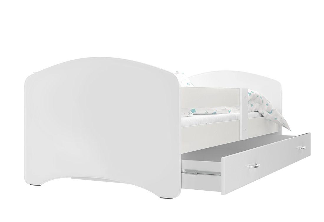 Dětská postel s potiskem LUCIE + matrace + rošt ZDARMA, 180x80, bílý/VZOR 14