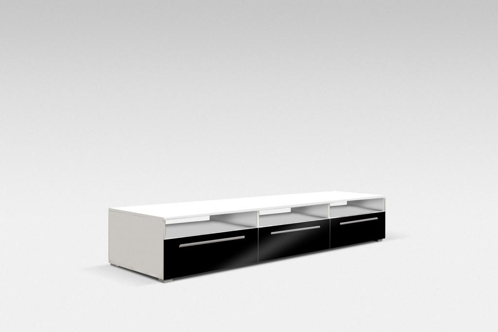TV stolek GALANTIC 150, bílá/šedá lesk