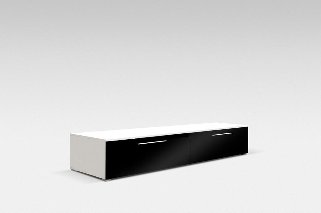 TV stolek GALANTIC 100, bílá/šedá lesk