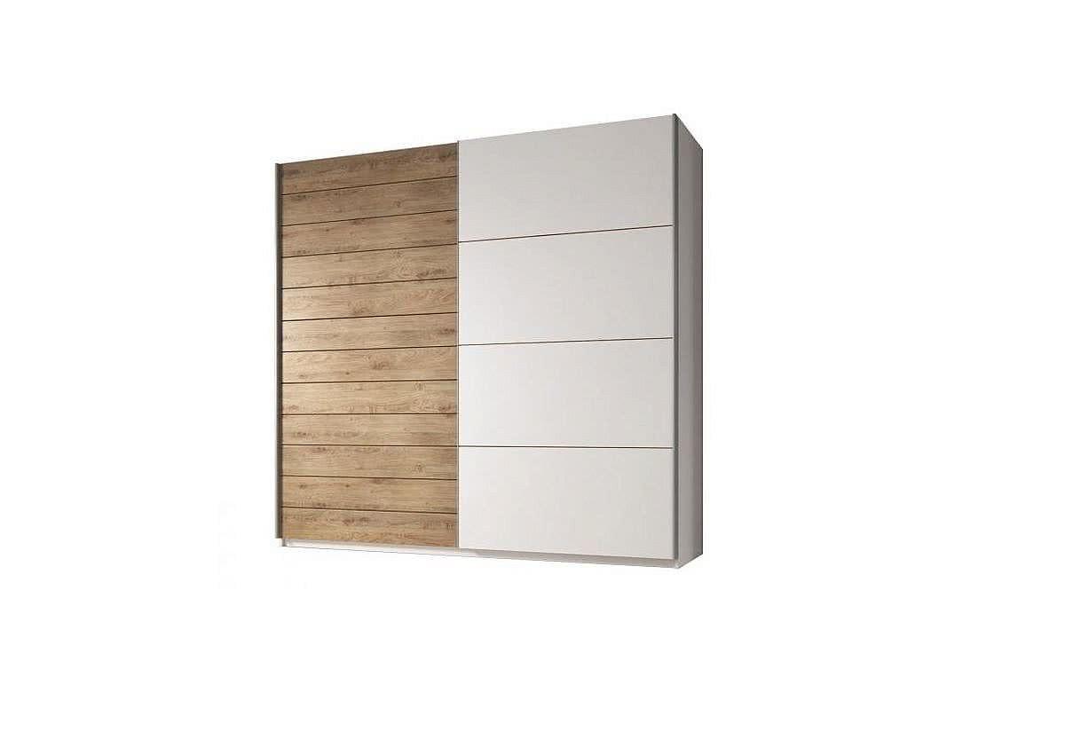 Posuvná skříň LAXYGA 270 (19), bílý/dub beaufort - bílý
