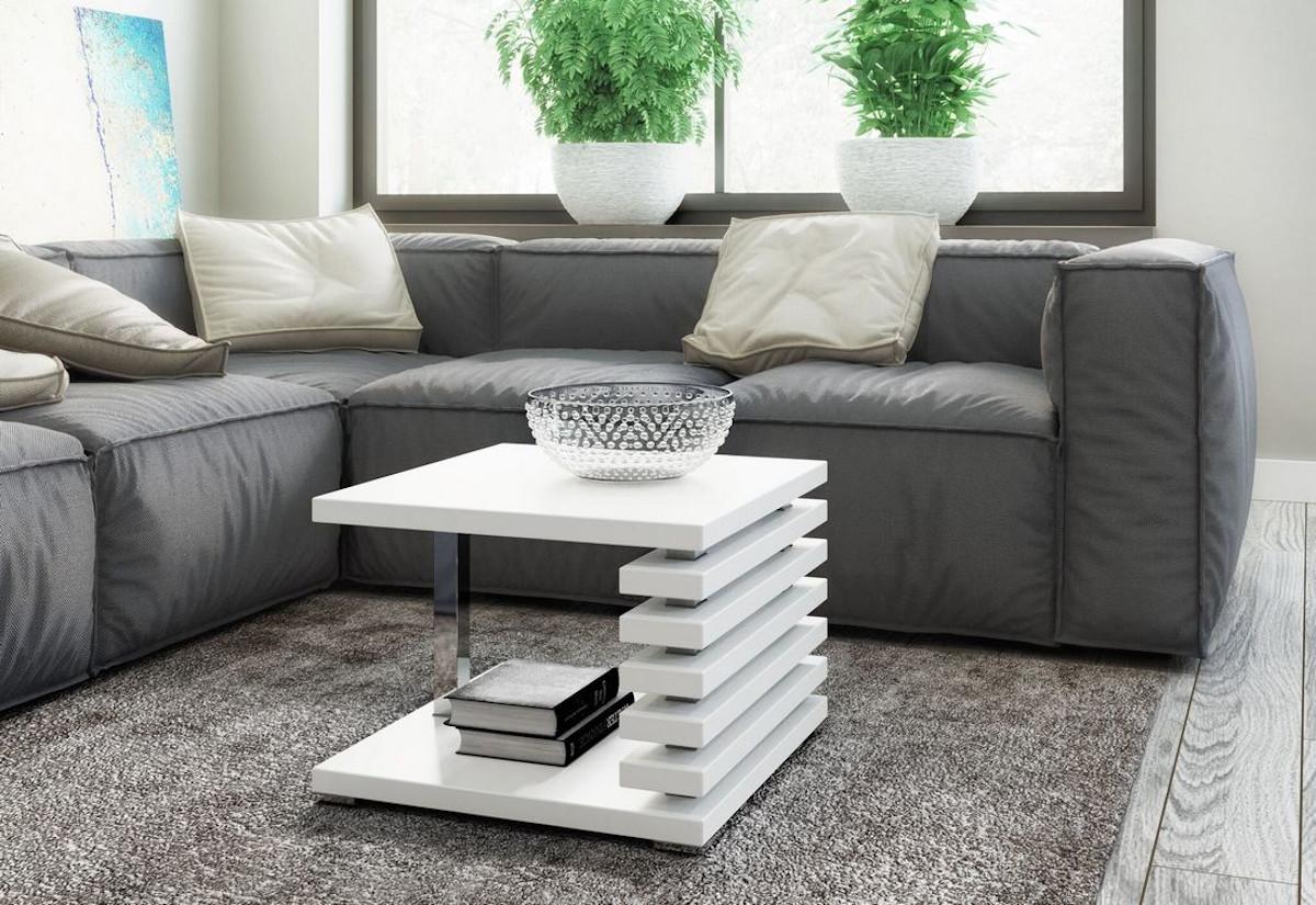 Konferenční stolek GUIDE, 60x44x60, bílý