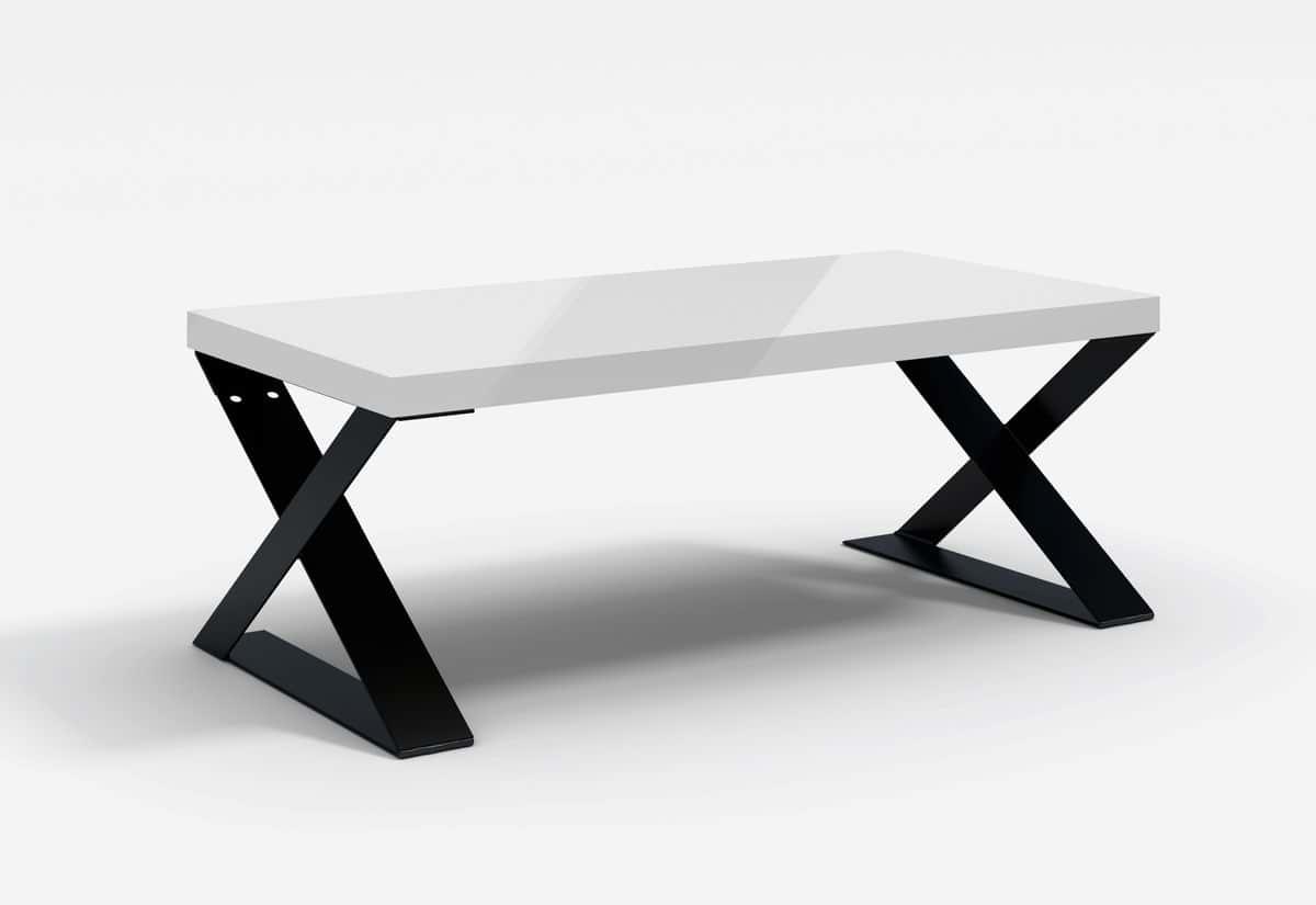 Konferenční stolek SAIA MINI, 120x46x60, bílý lesk